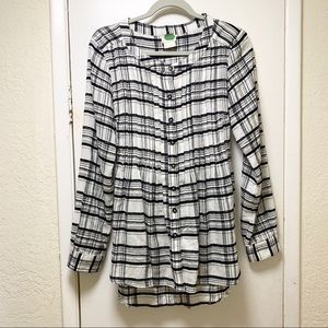 Anthropologie long sleeve Button down Blouse
